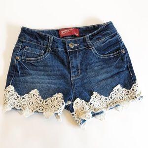 Arizona Jean Company Lace Bottom Shorts